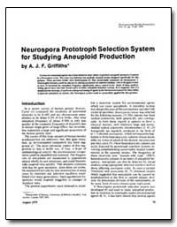 Neurospora Prototroph Selection System f... by Griffiths, A. J. F.