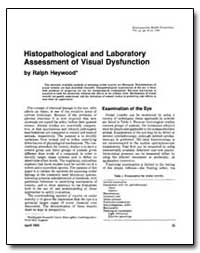 Histopathological and Laboratory Assessm... by Heywood, Ralph