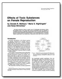 Effects of Toxic Substances on Female Re... by Mattison, Donald R.