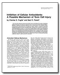 Inhibition of Cellular Antioxidants : A ... by Powell, Saul R.