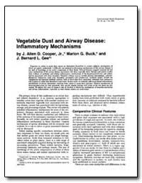 Vegetable Dust and Airway Disease : Infl... by Buck, Marion G.