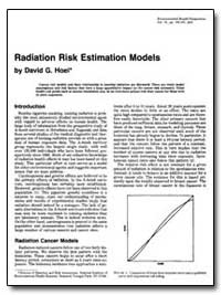 Radiation Risk Estimation Models by Hoel, David G.