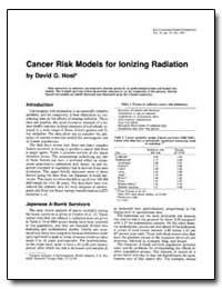 Cancer Risk Models for Ionizing Radiatio... by Hoel, David G.