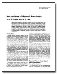 Mechanisms of General Anesthesia by Franks, N. P.
