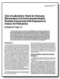 Use of Laboratory Tests for Immune Bioma... by Vogt, Robert F.