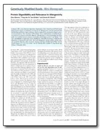 Protein Digestibility and Relevance to A... by Hinton, Dennis M.