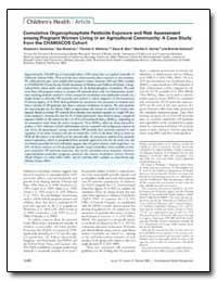 Cumulative Organophosphate Pesticide Exp... by Barr, Dana B.