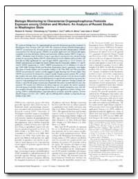 Biologic Monitoring to Characterize Orga... by Fenske, Richard A.