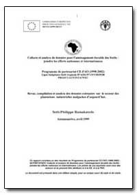 Revue, Compilation et Analyse des Donnee... by Food and Agriculture Organization of the United Na...