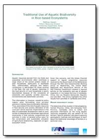 Traditional Use of Aquatic Biodiversity ... by Food and Agriculture Organization of the United Na...