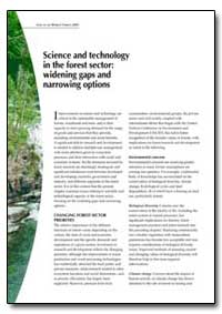 Science and Technology in the Forest Sec... by Food and Agriculture Organization of the United Na...