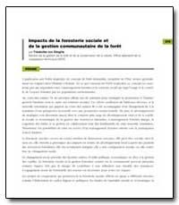 Impacts de la Foresterie Sociale et de l... by Von Stieglitz, Friederike