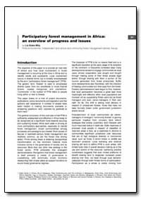 Participatory Forest Management in Afric... by Wily, Liz Alden