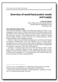 Overview of World Feed Protein Needs and... by Speedy, Andrew W.