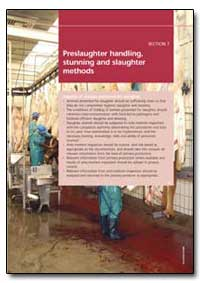 Preslaughter Handling, Stunning and Slau... by Food and Agriculture Organization of the United Na...