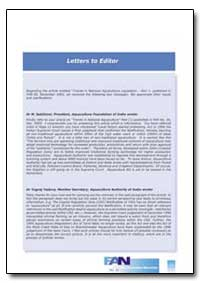 Letters to Editor by Food and Agriculture Organization of the United Na...