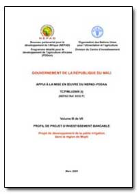 Volume III de VII Profil de Projet Dinve... by Food and Agriculture Organization of the United Na...