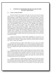 Conceptual Framework for the Analysis of... by Food and Agriculture Organization of the United Na...