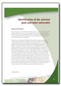 Identification of the Extreme Poor and M... by Food and Agriculture Organization of the United Na...
