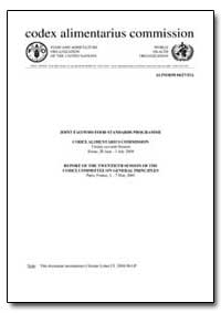Report of the Twentieth Session of the C... by Food and Agriculture Organization of the United Na...