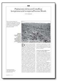 Plantaciones de Teca en Costa Rica: La E... by Schmincke, K. H.