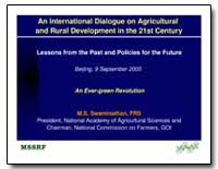 An International Dialogue on Agricultura... by Swaminathan, M. S.