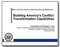 Building America's Conflict Transformati... by International Development Agency