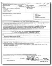 Amendment of Soliciatation/Modification ... by International Development Agency