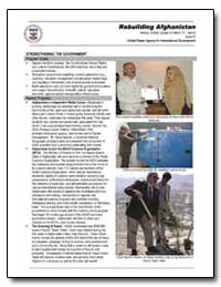 Rebuilding Afghanistan Weekly Activity U... by International Development Agency