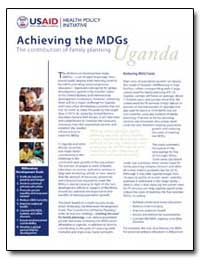 Achieving the Mdgs the Contribution of F... by International Development Agency