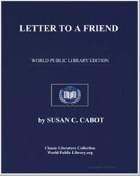 Letter to a Friend by Cabot, Susan C.