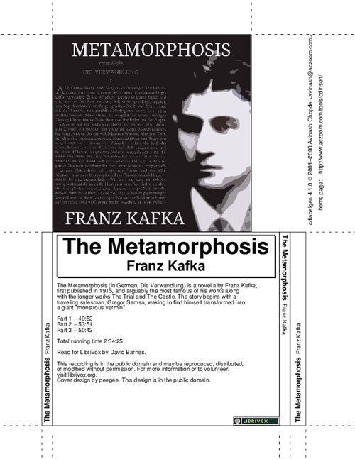 Metamorphosis, The by Kafka, Franz