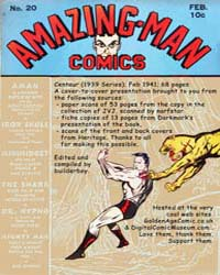Amazing Man Comics : Issue 20 Volume Issue 20 by Centaur Publishing