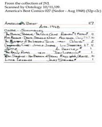 America's Best Comics : Issue 27 Volume Issue 27 by Better/Nedor/Standard/Pines Publications