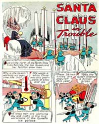 Santa Claus Funnies: Santa Claus in Trou... Volume Issue 1 by Dell Comics