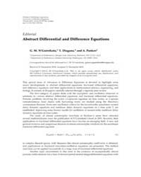 Advances in Difference Equations : March... Volume Issue : March 2010 by Agarwal, Ravi P.
