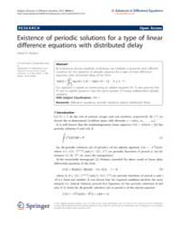 Advances in Difference Equations : May 2... Volume Issue : May 2012 by Agarwal, Ravi P.