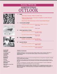 Agricultural Outlook : November 1997 Volume Issue November 1997 by Usda