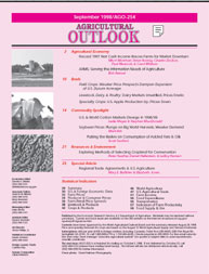 Agricultural Outlook : September 1998 Volume Issue September 1998 by Usda