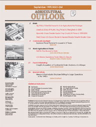 Agricultural Outlook : October 1999 Volume Issue September 1999 by Usda