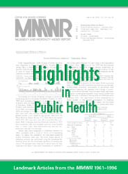 Morbidity and Mortality Weekly Report (M... Volume March 3, 1999 ; MMWR Landmark Issue by Center for Disease Control (Cdc) and Prevention