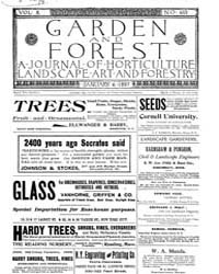Garden and Forest Volume 10 Issue 463 Ja... by Charles S; Sargent