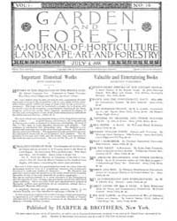 Garden and Forest Volume 1 Issue 19 July... by Charles S; Sargent