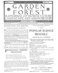 Garden and Forest Volume 1 Issue 31 Sept... by Charles S; Sargent