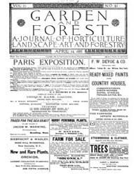 Garden and Forest Volume 2 Issue 61 Apri... by Charles S; Sargent