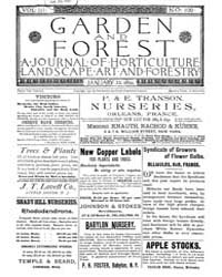 Garden and Forest Volume 3 Issue 100 Jan... by Charles S; Sargent