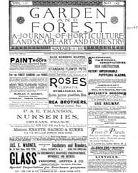 Garden and Forest Volume 3 Issue 143 Nov... by Charles S; Sargent