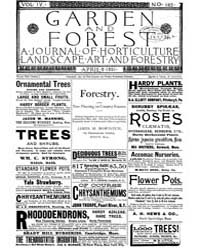 Garden and Forest Volume 4 Issue 163 Apr... by Charles S; Sargent