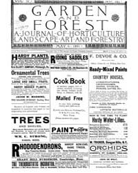 Garden and Forest Volume 4 Issue 167 May... by Charles S; Sargent