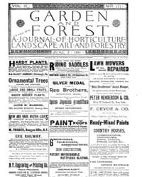 Garden and Forest Volume 4 Issue 171 Jun... by Charles S; Sargent